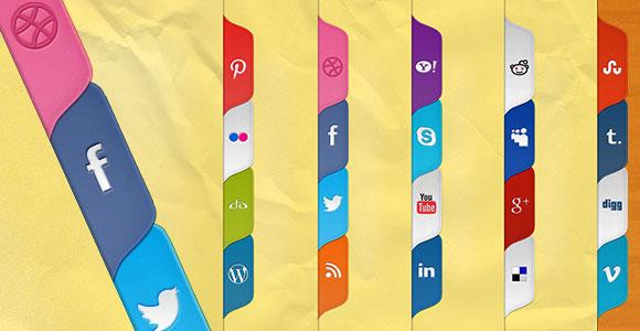 Social media tabs PSD + CSS