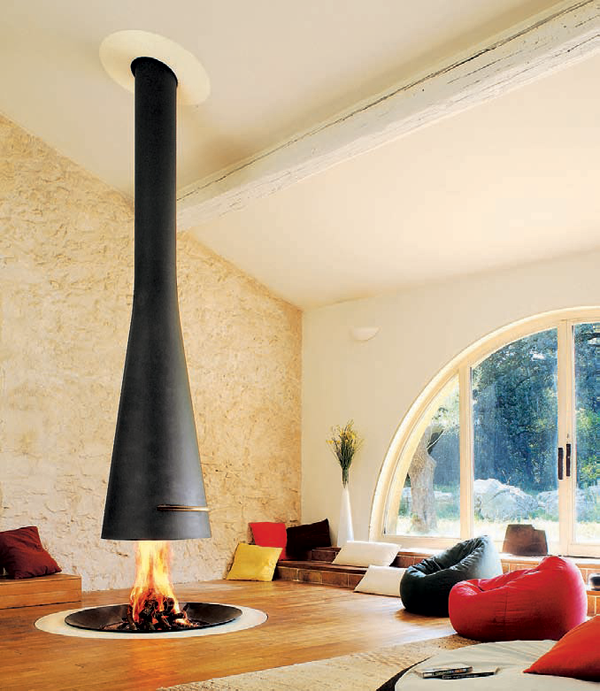 suspended 8 big1 30 Awesome Fireplace & Fire Pit Designs