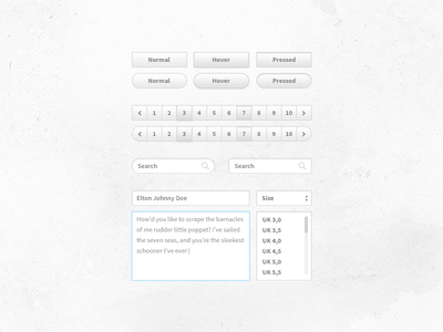 UI kit thing by Dennis Andersson