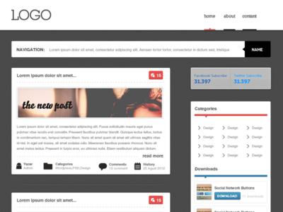Blog Design Freebie