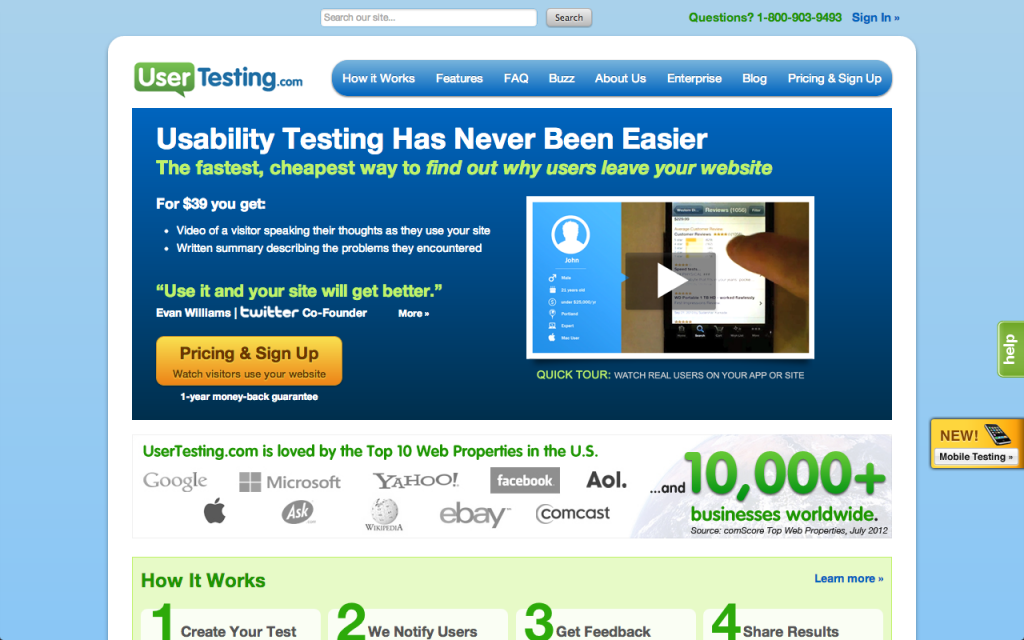 usertesting 1024x6401 15 Valuable Tools To Help Grow Your Business In 2013