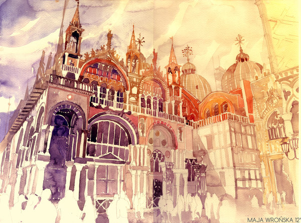 venezia by takmaj d5bw1k31 Watercolor Wonders by Maja Wronska