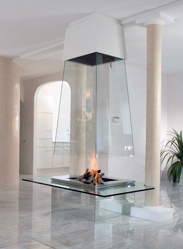 vetro1 30 Awesome Fireplace & Fire Pit Designs
