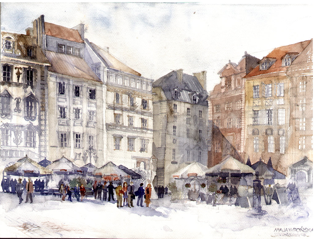 warszawa by takmaj1 Watercolor Wonders by Maja Wronska