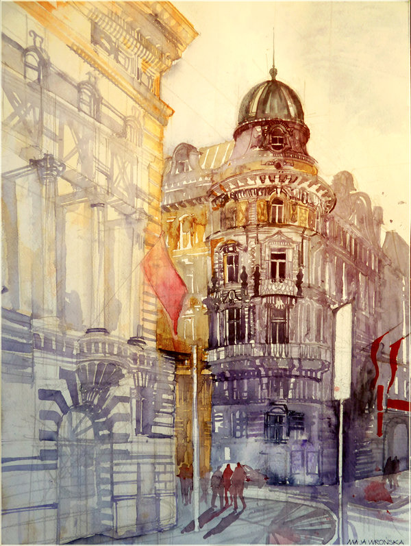 wien by takmaj d573o0q1 Watercolor Wonders by Maja Wronska