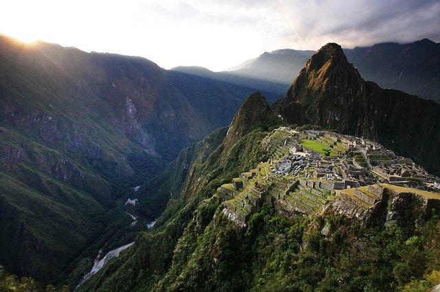 Sunset, Machu Picchu, Peru.