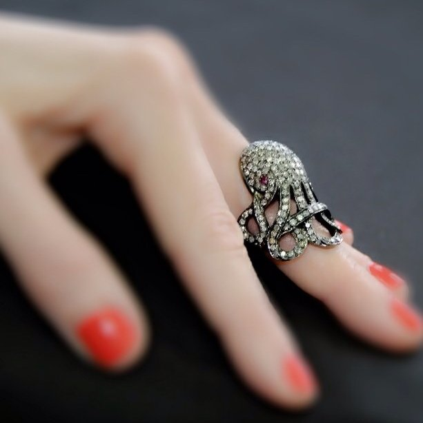 20,000 Leagues Octopus Diamond Ring by Plukka