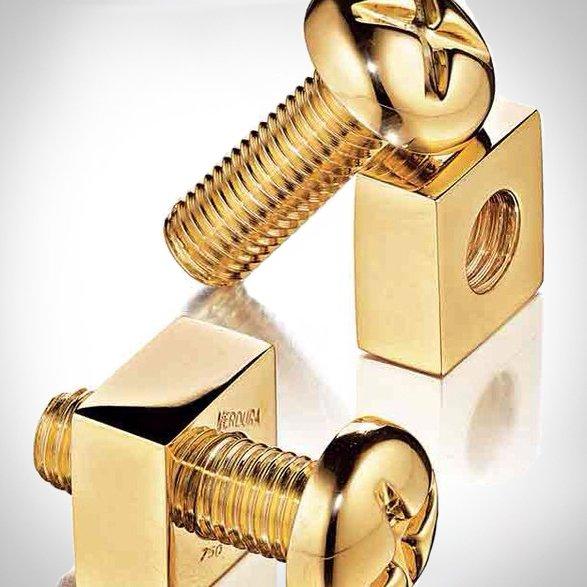 Verdura 18 kt Gold Nuts & Bolts Cufflinks