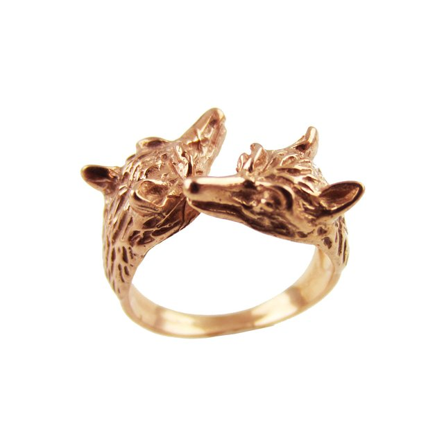 Rose Gold Fox Ring