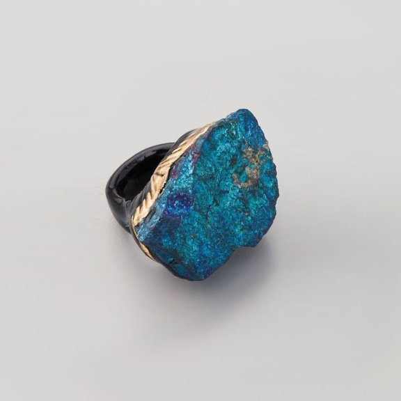 Peacock Pyrite Ring by Adina Mills