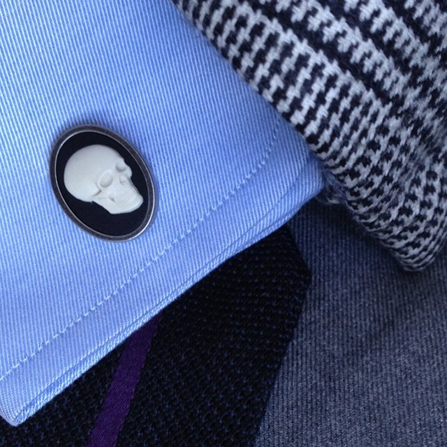 Skull Cameo Cufflinks by Paul Smith
