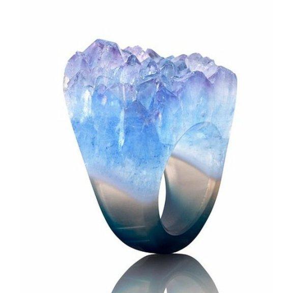 Blue Agate Ring by Joya