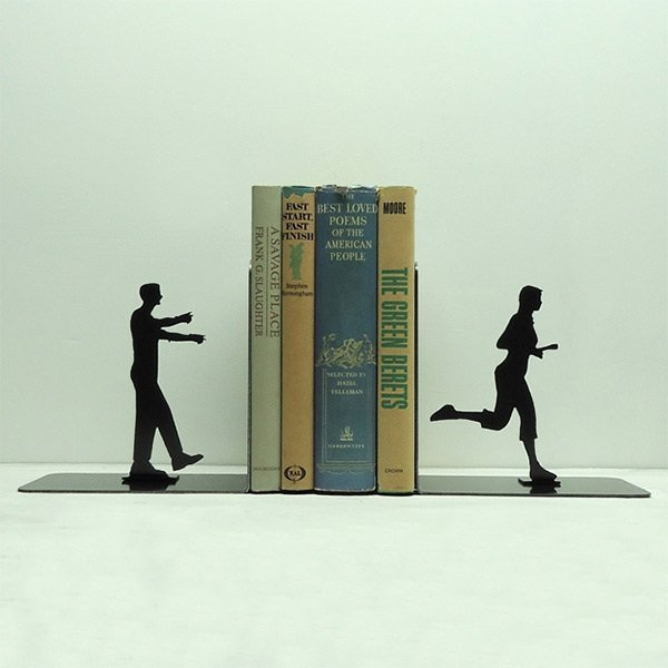 Zombie book ends