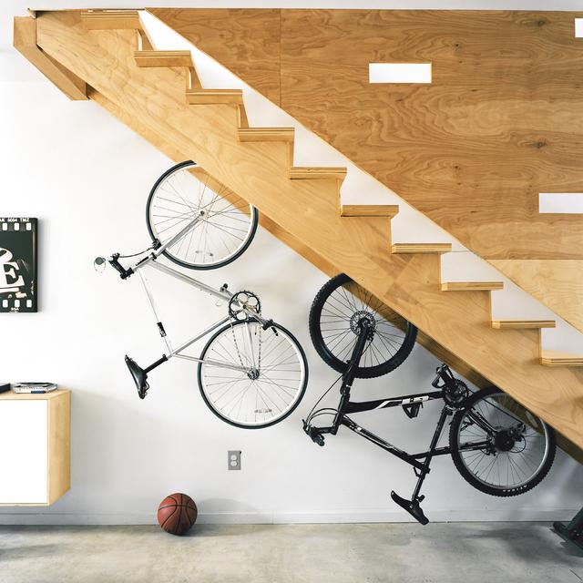 Dual Staircase Bike Storage