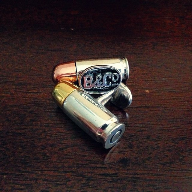 Ammo Cufflinks by Bernardo & Co.