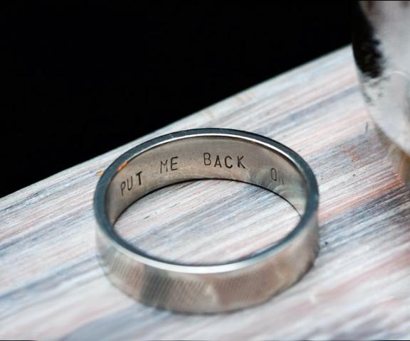 Put Me Back On Engraved Ring