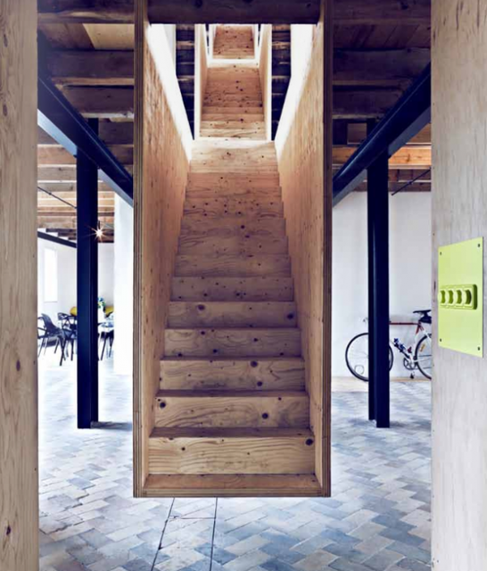 Plywood Staircase by Jonas Ingerstedt