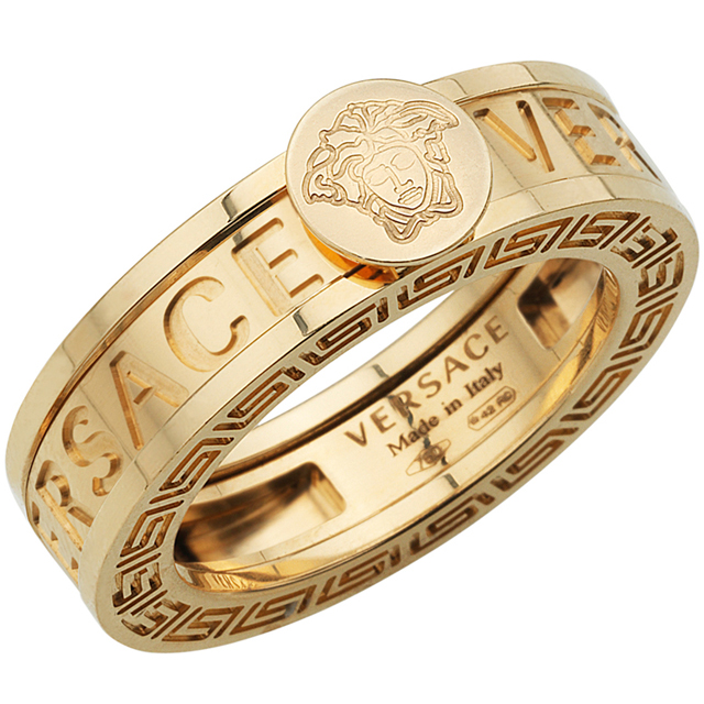 Medusa Head Gold Ring by Versace