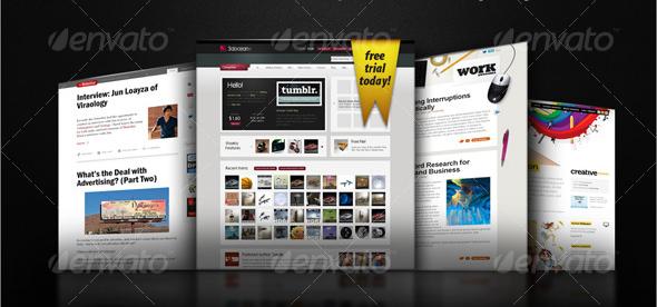 3D-Asymmetrical-Web-Page-Display