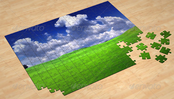 3d jigsaw puzzle mockup 30 Product Mock Up Resources from Graphicriver