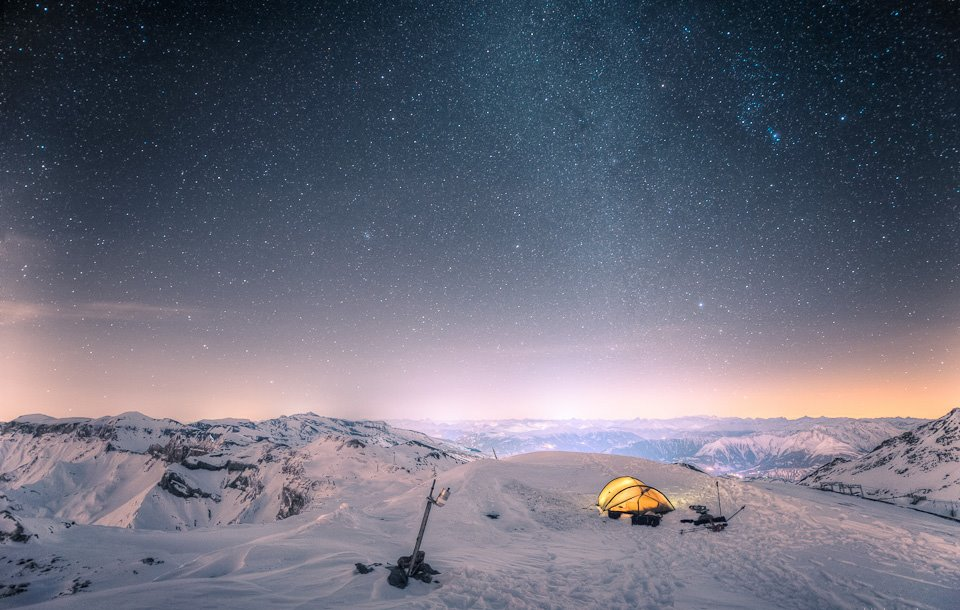 Camping at 10,000 Feet by David Kaplan