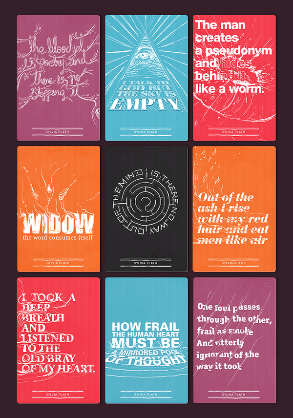 Sylvia Plath - Typographic collection