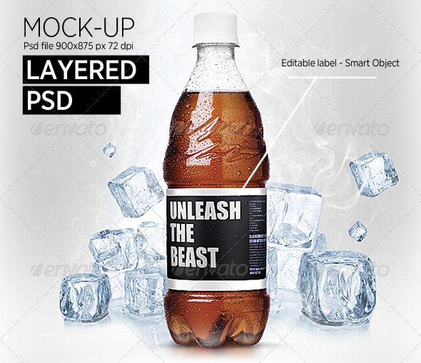 bottles and ice mock up 30 Product Mock Up Resources from Graphicriver