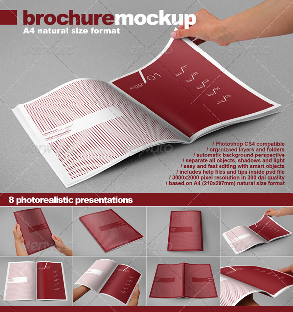 brochure mock up 30 Product Mock Up Resources from Graphicriver
