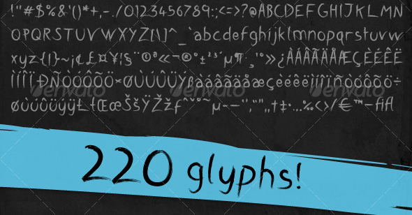 brushd font 20 Premium Sans Serif and Script Fonts