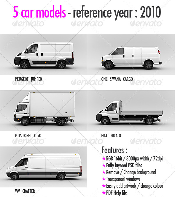 car models 30 Product Mock Up Resources from Graphicriver
