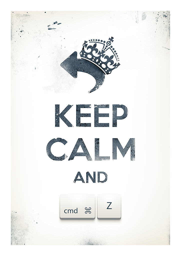 Keep Calm and Undo by Pawe? Kadysz