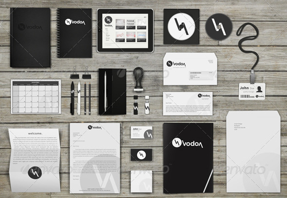 corporate and brand identity mock up 30 Product Mock Up Resources from Graphicriver