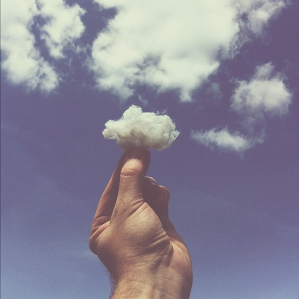 cotton ball cloud Conceptual iPhone Photography from Brock Davis