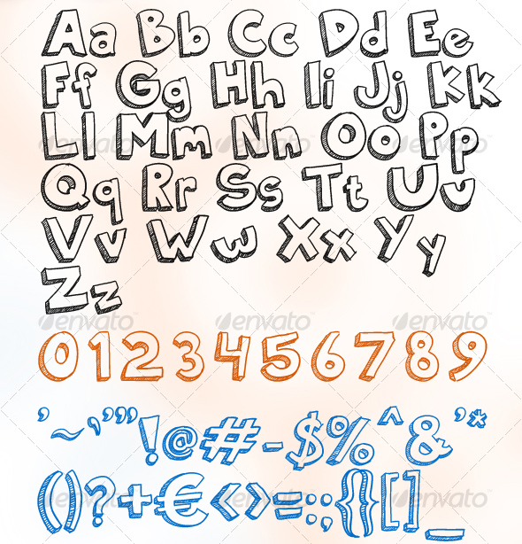 doodly truetype 20 Premium Sans Serif and Script Fonts
