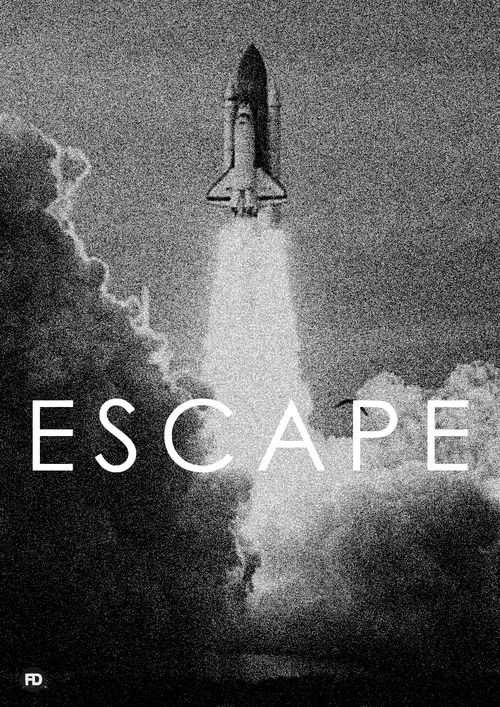 escape Exceptional Typography and Graphic Design Posters by Faried Omarah