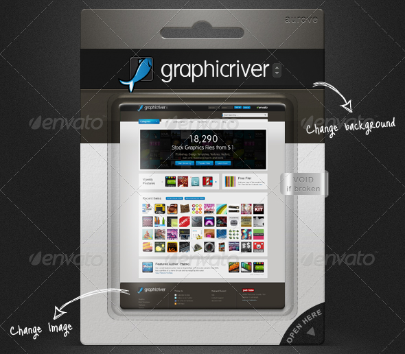 exhibition blister pack mock up 30 Product Mock Up Resources from Graphicriver