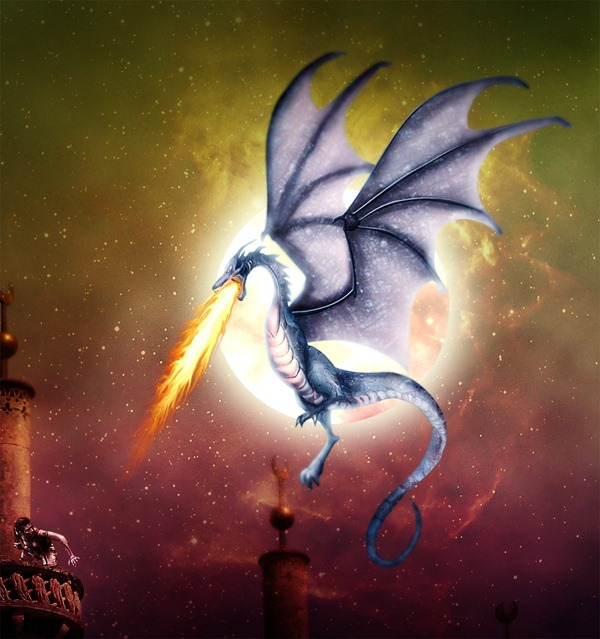 How to Draw a Colorful Fantasy Dragon Battle Scene in Photoshop Read more at http://photoshoptutorials.ws/photoshop-tutorials/drawing/draw-colorful-fantasy-dragon-battle-scene-photoshop/#QtIdmuGZWGtTsTt4.99