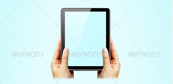 Hands-on-tablet