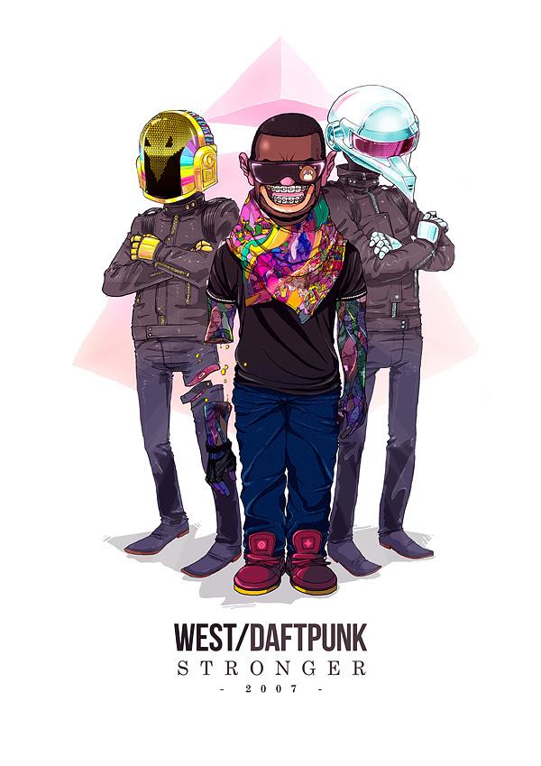 kanye west daft punk stronger