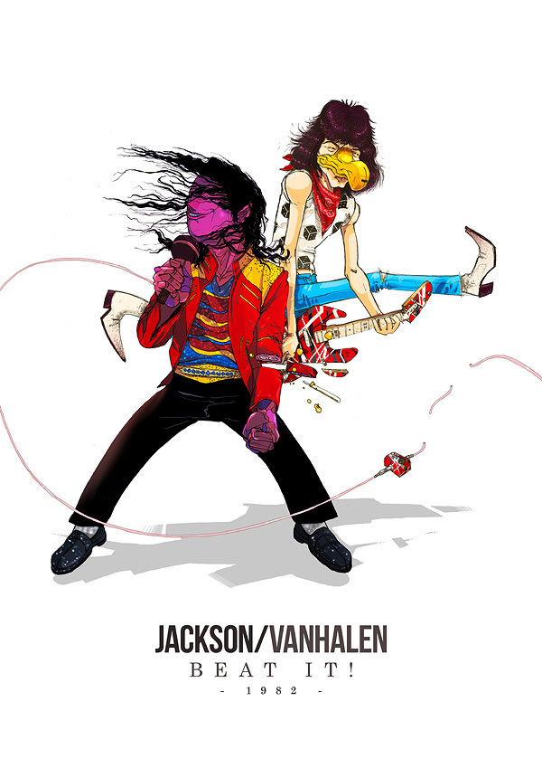 michael jackson and van halen beat it