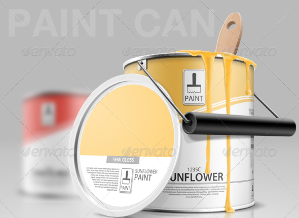 paint can 30 Product Mock Up Resources from Graphicriver