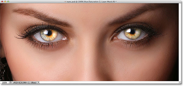 Radial Zoom Enhanced Eyes Effect In Photoshop