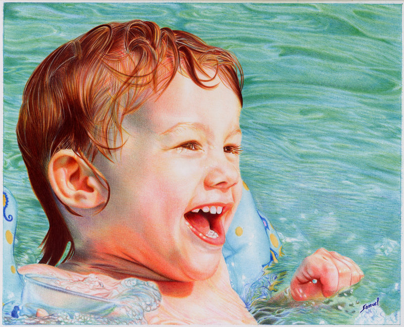 pool boy   ballpoint pen by vianaarts d5f5q621 Photo or Pen? Photorealistic Artwork by Samuel Silva