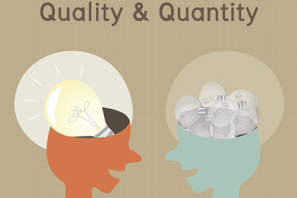 quality matters not quantity essay Better quantity and quality of infrastructure can directly  should not be attributed  to any of the organizations we are  development does not seem to matter.