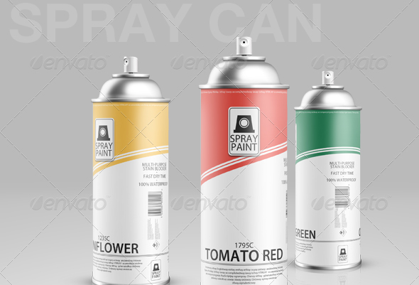 spray can 30 Product Mock Up Resources from Graphicriver
