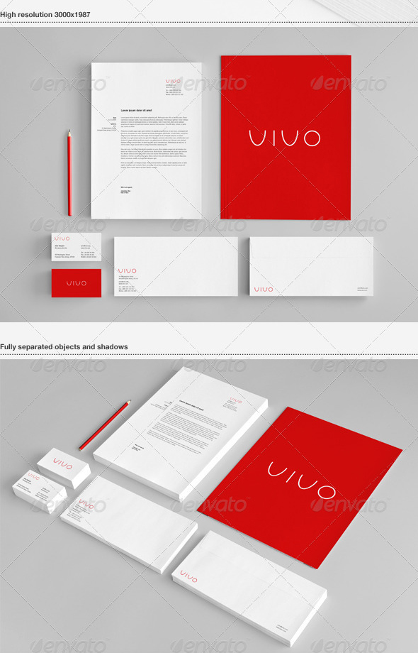 stationery branding mock up 30 Product Mock Up Resources from Graphicriver