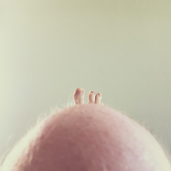 toes atop knee hill Conceptual iPhone Photography from Brock Davis