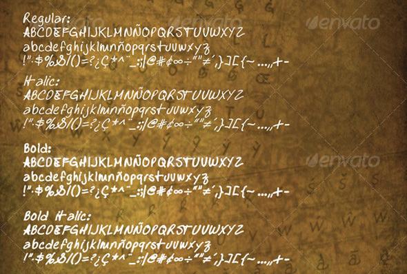 y-ole!-Handscript