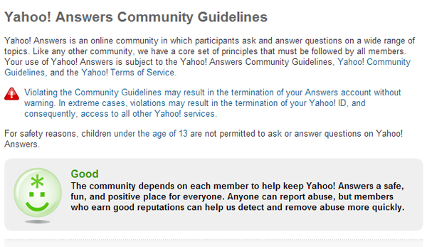 Yahoo-Community-Guidelines