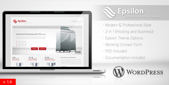 01 epsilon preview   large preview1 15 Premium Hosting Wordpress Themes